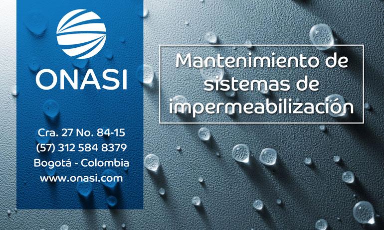 Mantenimiento de Sistemas de Impermeabilización